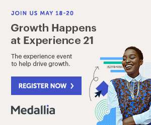 Growth Happens. The experience event to help drive growth. May 18 to 20. Register Now.